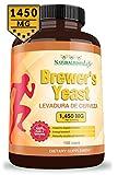 Brewers Yeast capsules Levadura de Cerveza 1450mg per serving High Absorption Pure 100 capsules