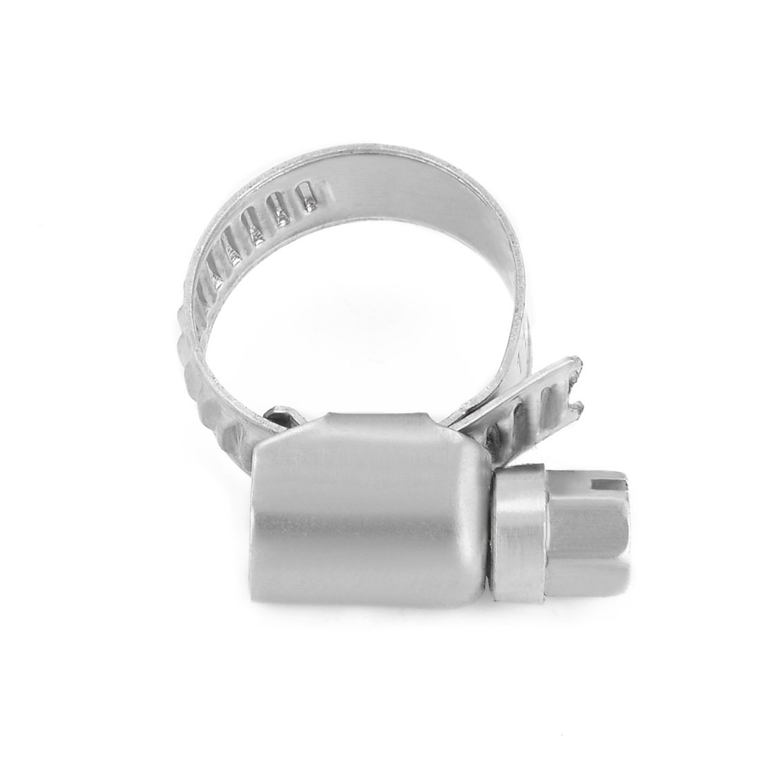 uxcell 18mm to 32mm Dia Range 304 Stainless Steel German Type Hose Clamp Hoop 10pcs