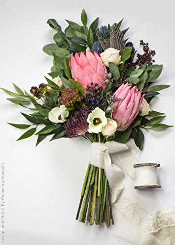 Artificial-Protea-Tropical-Flower-in-Dark-Pink-26-Tall