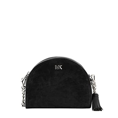 ec166b0b138b Michael Kors - Mid Half Moon Crossbody Bag, Black: Amazon.co.uk: Clothing