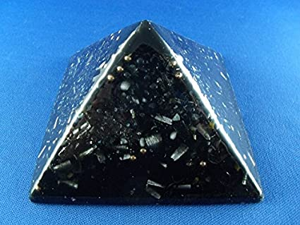 Black Sun Large Pyramid Orgone Generator Energy Accumulator PERFECT GIFTING  TOOL!!!! Made 528Hz Frequency with OM Chants Many Beautiful Ingredients!!