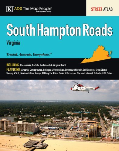 South Hampton Roads VA Atlas (South Hampton Roads, Virginia Street Map Book) by ADC The Map People - Mall Hampton Virginia