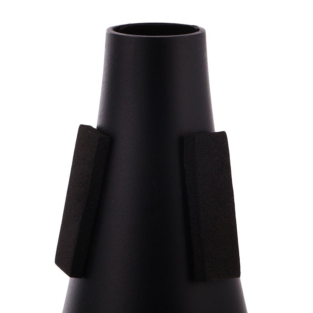 MagiDeal Sourdine Muette Droite en Acier Pratique Accessoire L/éger pour Trompette Instrument Noir