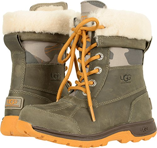 UGG Kids K Butte II Camo Lace-up Boot, Brindle, 5 M US Big Kid by UGG