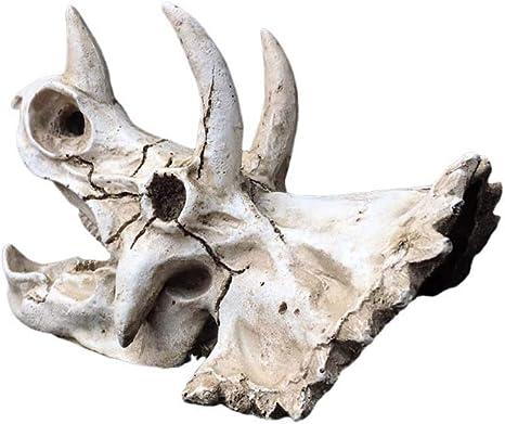 Triceratops Genético Adorno de resina artificial para acuario ...