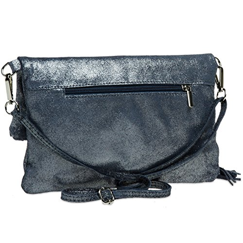 CASPAR TL718 Leather TL718 Blue Clutch Women CASPAR Women fqPvq