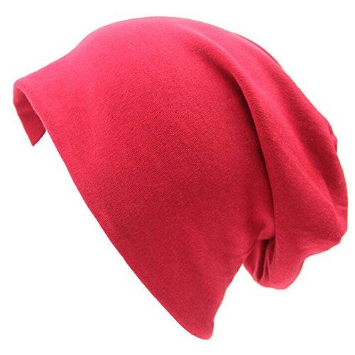 Hat Slouch Cap sombrero de Beanie Cap Casual hombres Invierno Naranja mujeres hip gorra Otoño Unisex naranja Gorro Baggy para Rojo hop TININNA cB7WSXc