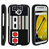 MINITURTLE Case Compatible w/ Case for Moto E ( 2nd Gen ) , 2 Piece Hard Snap On Case + Screen Protector Film + Black Motorola XT1527 Game Controller Review