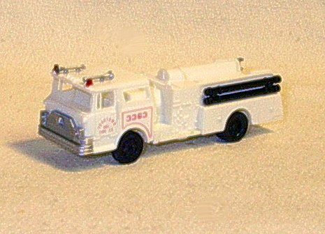 (HO Scale Pumper Fire Engine in the color WHITE, NOT Red)