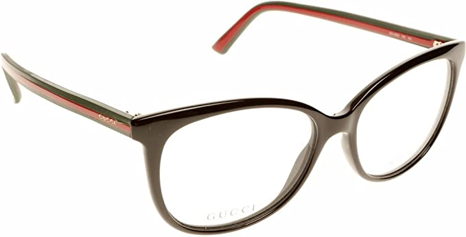 Amazon.com: Gucci eyeglasses GG 3650 51N Acetate Black - Green ...