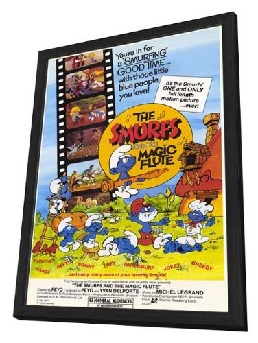 The Smurfs and the Magic Flute Framed Movie Poster