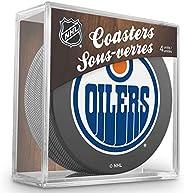 Inglasco Team Logo Hockey Puck Coasters (4) Pack - Oilers