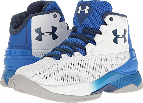 Under Armour Boys' Boys' Grade School Longshot, White (100)/Ultra Blue, 6.5 For Sale