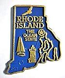 Rhode Island the Ocean State Map Fridge Magnet