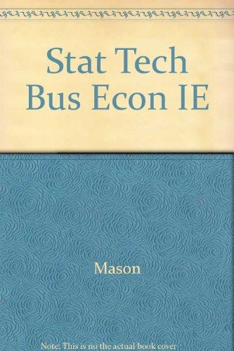 Stat Tech Bus Econ IE