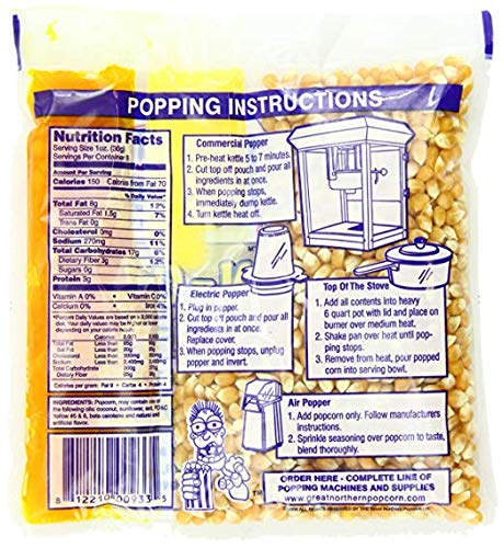 4110 Great Northern Popcorn Premium 8 Ounce (Pack of 40) (8 Ounce (Pack of 40)) by Great Northern Popcorn Company (Image #2)