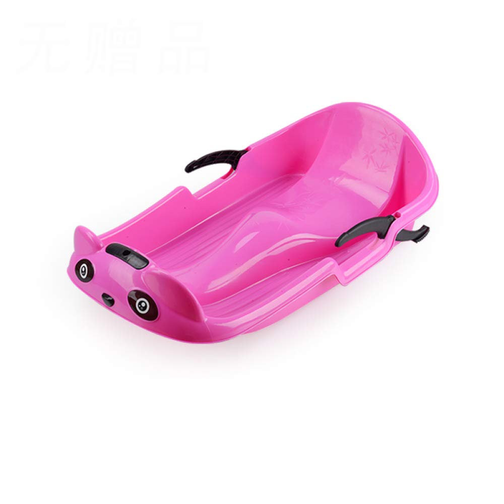 Winter Sledge Sled Toboggan Sleigh Snow Racer Winter 70-100cm Snowboard Sand Board Brake Thickened Sled Outdoor Sand Grass,Pink-70CM by GAOYY
