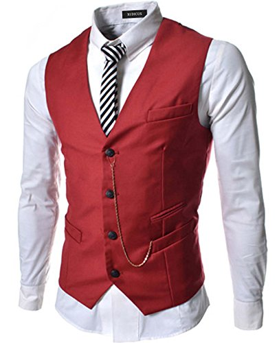 Red 4 Buckle Vest - 6
