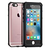 Waterproof Case for iPhone 6/6s [4.7-Inch Version], ALOFOX Clear Shockproof iPhone 6 Swimming Case-Retail Packaging Black+Transparent