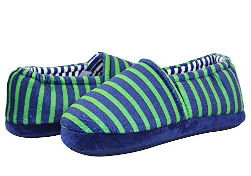 Pictures of LA PLAGE Boy's Cute Soft Cotton Stripe Slippers US 5