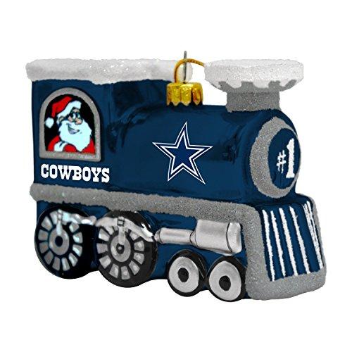 NFL Dallas Cowboys Blown Glass Train Ornament