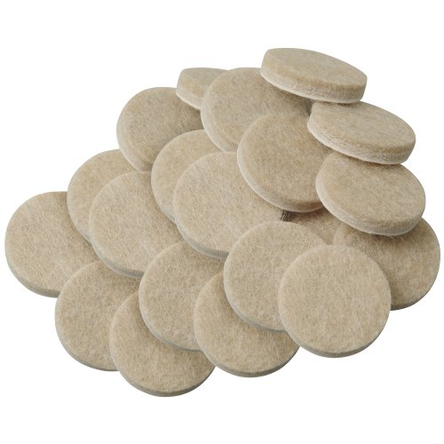 self-stick-3-4-furniture-felt-pads-for-hard-surfaces-20-piece-oatmeal-round
