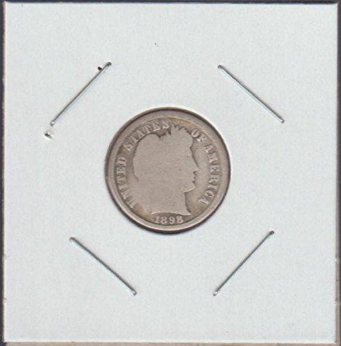 1898 Barber or Liberty Head (1892-1916) Dime Good