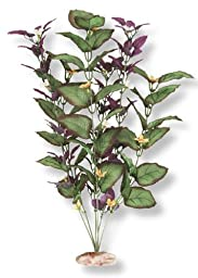 Vibran-Sea So. Amercian Rift Cluster Silk-Style Aquarium Plant, Large 13-14 tall, Plum