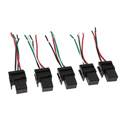 Amazon.com: Baosity 5 Pieces 40A 4Pin 4 Wire SPST Relays For ... on
