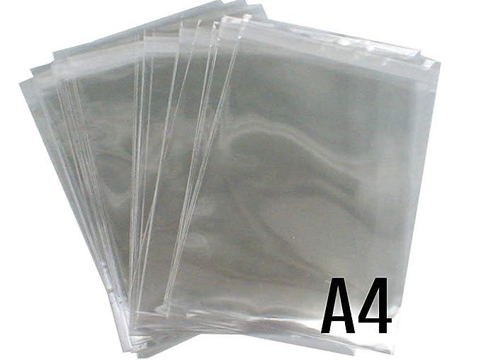 Amazon.com: FiNeWaY 100 A4 bolsas de celofán para tarjetas ...