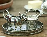 Vagabond House Solid Pewter Mabel Cow Creamer Set 4.5''Tall