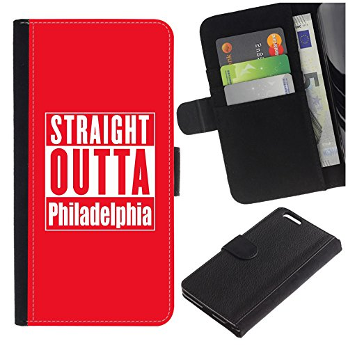 [Straight Outta Philadelphia] for Samsung GalaSamsung Galaxy S7 Active (NOT for S7), Flip Leather Wallet Holsters Pouch Skin Case ()