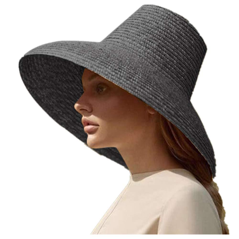 JJLIKER Womens Straw Sun Hat Wide Brim Fashion Beach Accessories Packable Summer for Travel Outdoor Fishing Hiking