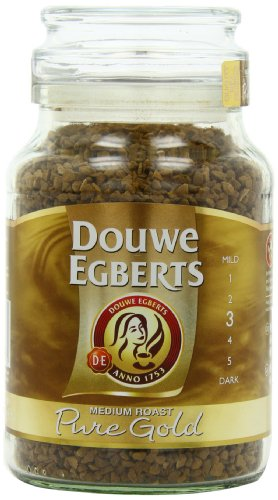 Douwe Egberts Pure Gold Instant Coffee, Medium Roast, 7.05-Ounce, 200g (Packaging May Vary)