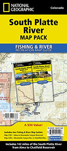 South Platte River [Map Pack Bundle] (National Geographic Trails Illustrated Map)