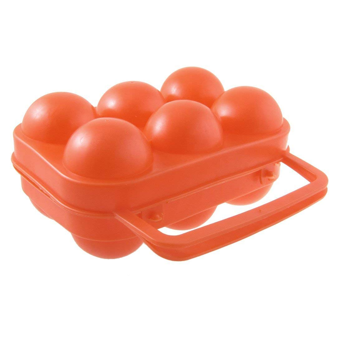 Egg Color - Refrigerator Supplied 6 Grids Egg Storage Box Colored Transparent Container Tray Plastic Carrier - Kits Chart Pass Paas Dye Game Match Machine Learning Easter