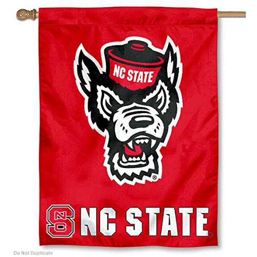 North Carolina State University Wolfpack House Flag