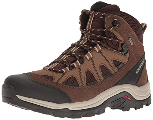 Salomon Men's Authentic LTR GTX Backpacking Boot, Black Coffee/Chocolate Brown/Vintage Kaki, 12 M US