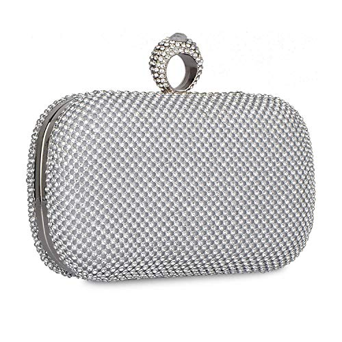 Rhinestone With Party C Wedding Crystal Chain Strap Clutch Bling Women's Detachable Prom Evening Handbag Purse ZUYEcxq