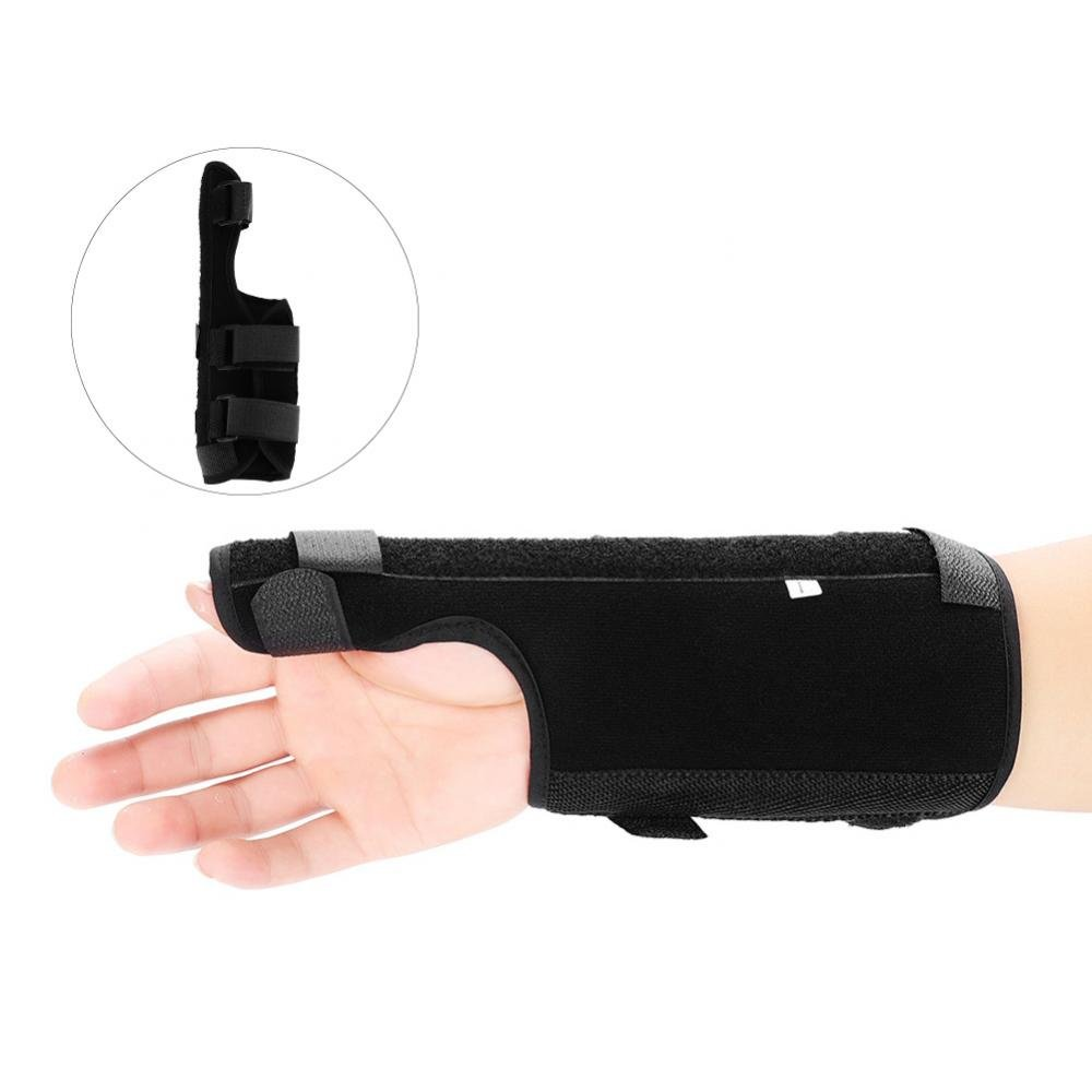 Thumb Aluminium Splint Wrist Brace, Arthritis or Soft Tissue Injuries Aid Tools Unisex Fitness Stabilizers Protector Alleviate Wrist and Thumb Pain(Left Hand, S)