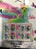 Justice Girls Press-on Nails Llama Unicorn Magic