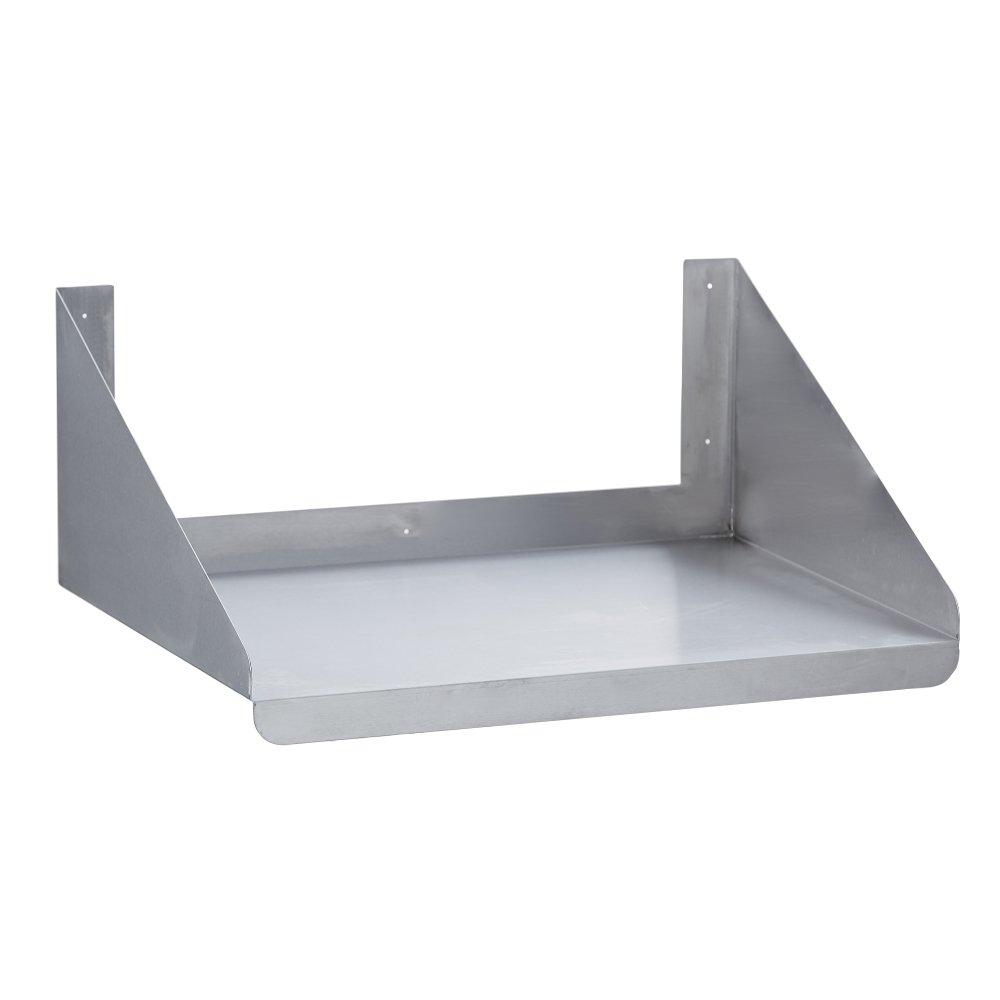 Fenix Sol Commercial Kitchen Stainless Steel Microwave Shelf, 24'' W x 24''L, NSF Certified