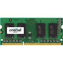 Crucial 4GB Single DDR3/DDR3L 1600 MT/s (PC3-12800) CL11 SODIMM 204-Pin 1.35V/1.5V Memory for Mac CT4G3S160BM
