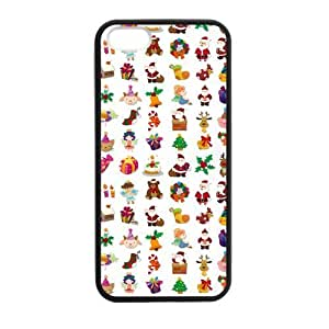 Cake Merry Christmas Case for iPhone 5 5s protective Durable black case
