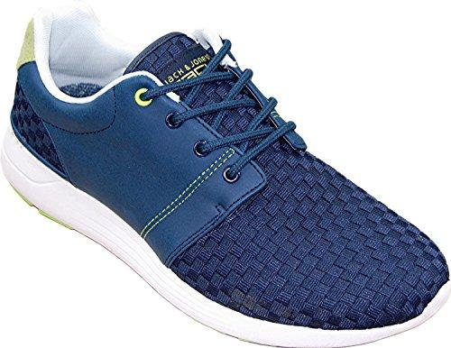 JACK & JONES Tech Herren Weld Braided Sneaker FX1 in verschiedenen Ausführungen navy blazer