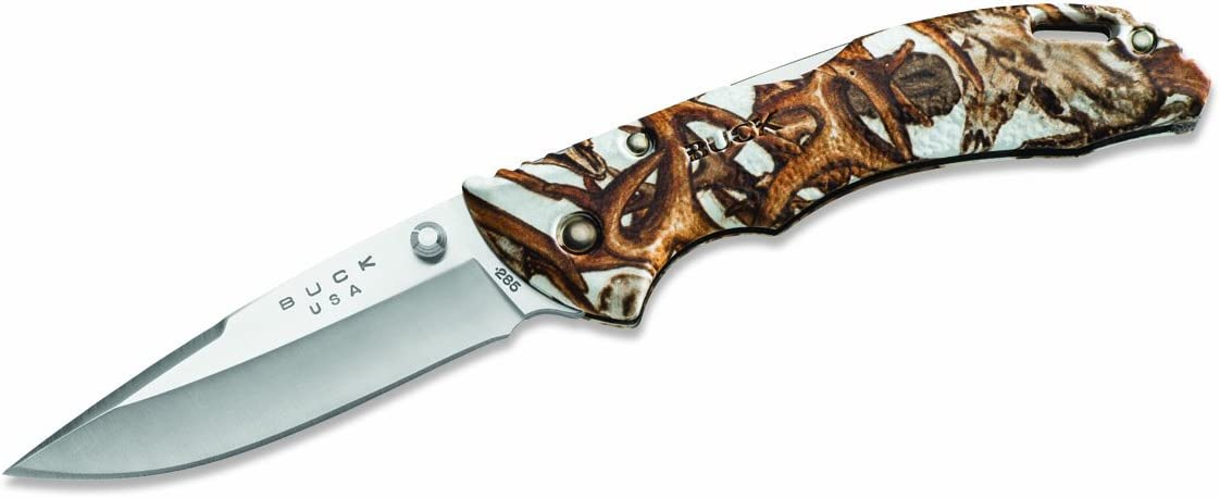 Buck Knives 0285CMS11 Bantam Knife, White Head Hunterz