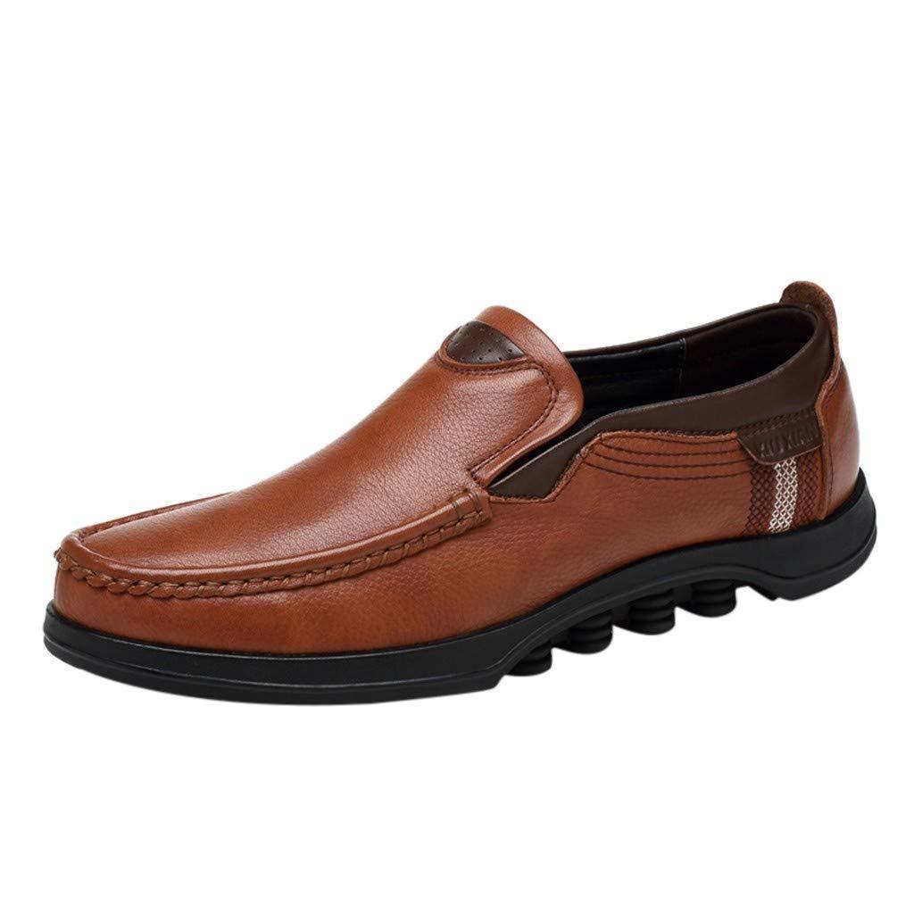 Marron Vectry Mode Homme Britannique Chaussures en Cuir en Plein Air Chaussures Casual Homme Affaires Chaussures Randonnée en Plein Air Trekking Casual Baskets 41 EU