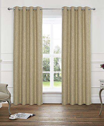 Alexandra Cole Boucle Blended Window Curtain Drapes 2 Panels Set 8 Grommets per Panel 45 x 95 Inch Ochre