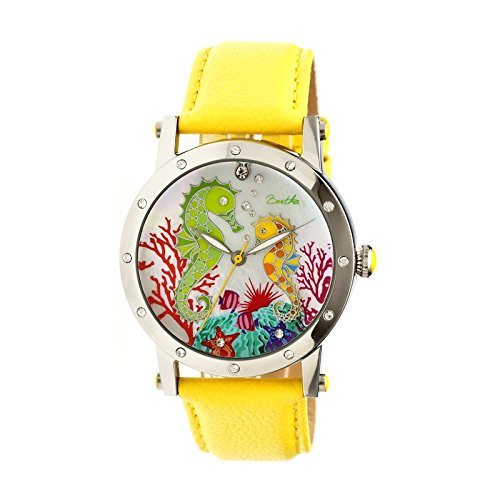 bertha-womens-morgan-mop-strap-yellow-stainless-steel-watch