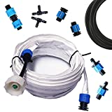 Blumat EasySoak Automatic Watering Slow Soaker Hose System for Three (3) 4'x8' Garden Bed – Flow Restrictor, Adapters, and Fittings Included